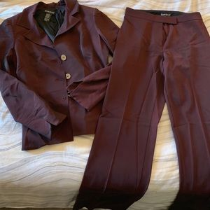 Bebe 2-piece Maroon Suit